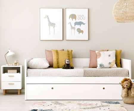 camas nido blancas cama divan juvenil canguro blancas, cama nido niña blanca juveniles
