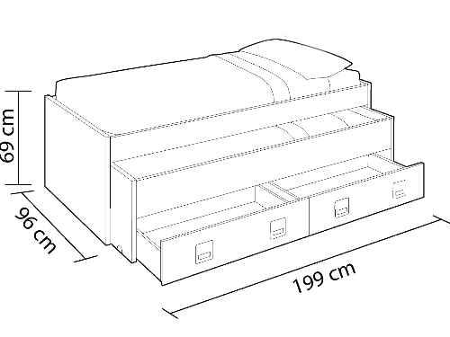 medidas dimensiones de cama nido la mejor cama nido la cama nido mejor valorada habitdesign 0M7449Y
