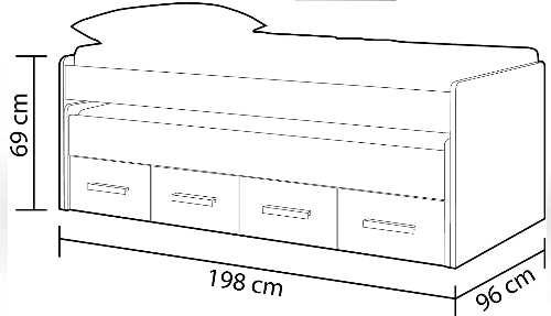 medidas dimensiones la mejor cama nido la cama nido mejor valorada habitdesign 1S7432Y