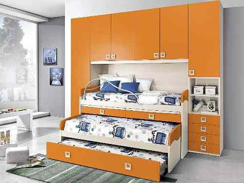 camas nido puente, armarios puente con cama nido
