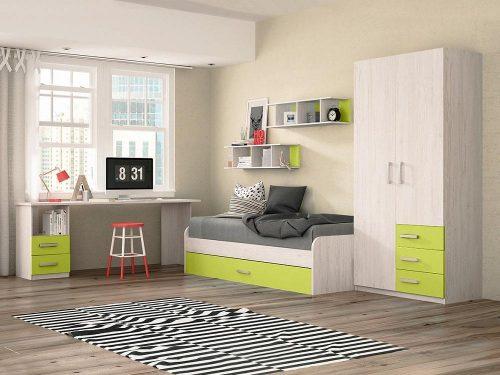 cama nido verde
