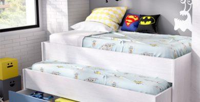cama nido azul