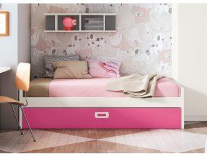 cama nido rosa
