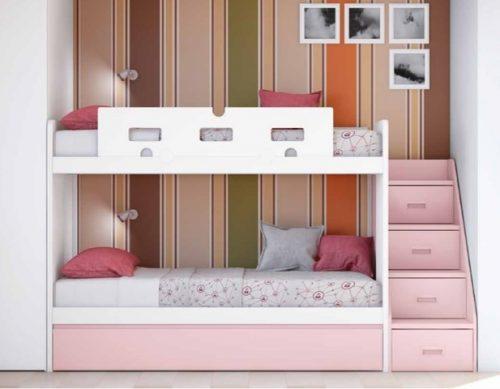 escalera para cama nido, cama nido con escaleras